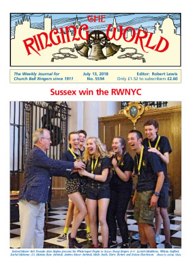 Ringing World cover Sussex Win RWYNC (13 Jul 2018)