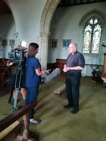 ITV filming at St George's, Brede